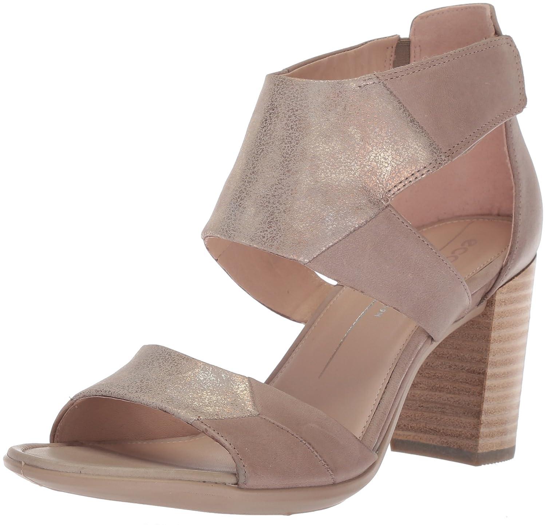 Ecco Shape 65, Zapatos de Tacón con Punta Abierta para Mujer 38 EU|Beige (Moon Rock/Moon Rock)