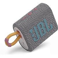 JBL Go 3: Altavoz portátil con Bluetooth, batería incorporada, resistente al agua y al polvo - Gris (JBLGO3GRYAM…
