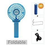Amazon Price History for:Portable Battery USB Mini Foldable Cooling Desktop Fan for Home Office Camping Travel (Rechargeable,Handheld,Umbrella Hanging,Baby Fan) (Black)