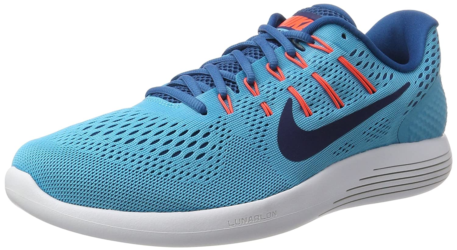 cheap for discount ab51a 99d2a Nike Men s Lunarglide 8 Training Shoes, Dunkelblau (Armory Navy Electro  Green Grey)