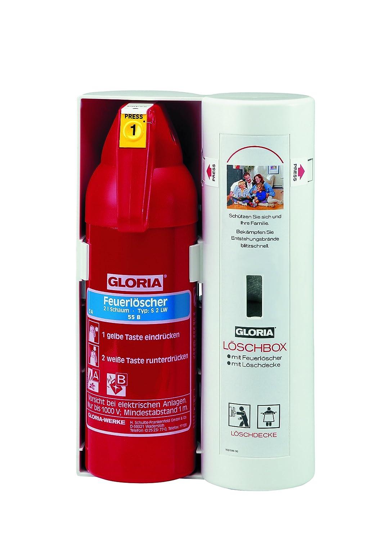Gloria Lö schbox: Inhalt: 2l Schaumlö scher (Leistung: 5A 70B) und Lö schdecke 1x1m