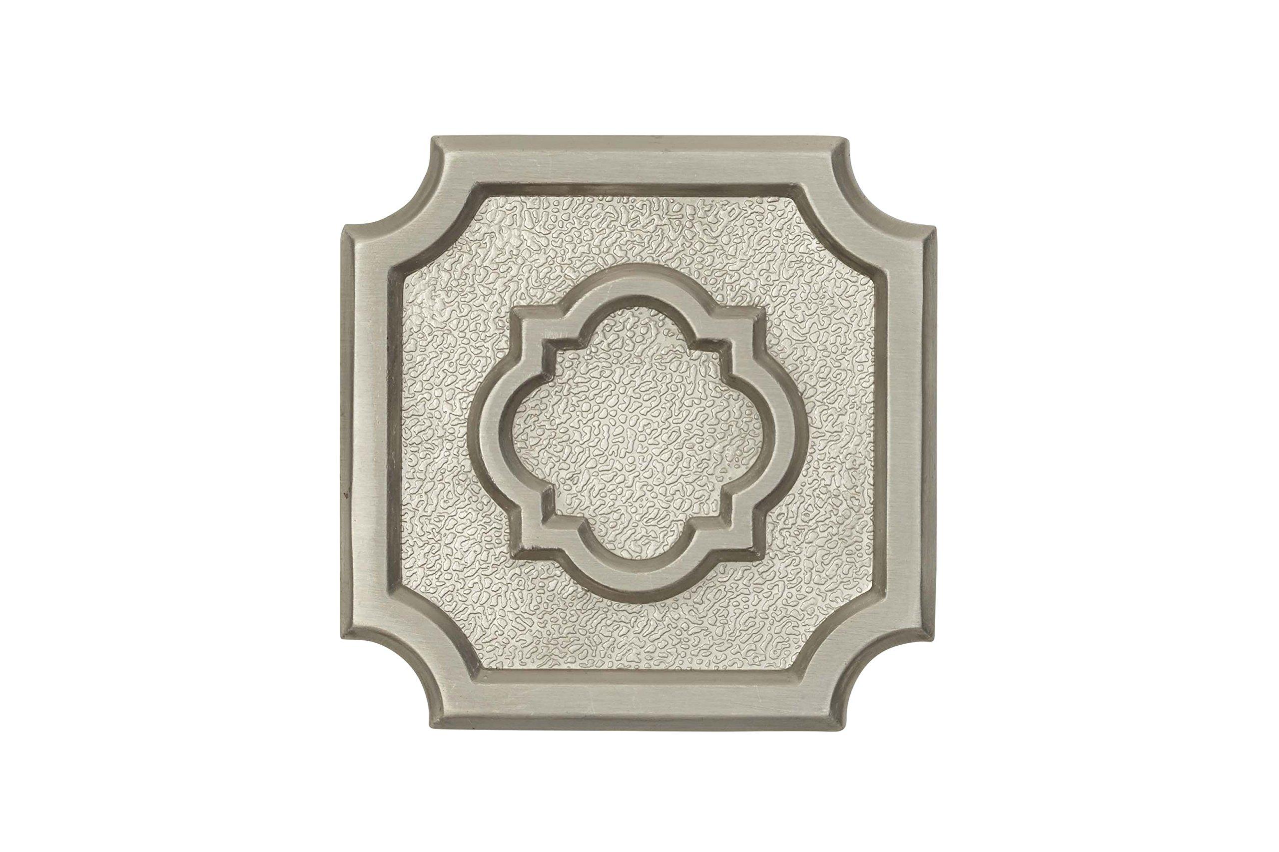 Architectural Mailboxes 3610SN Aluminum Satin Nickel Madrid Emblem