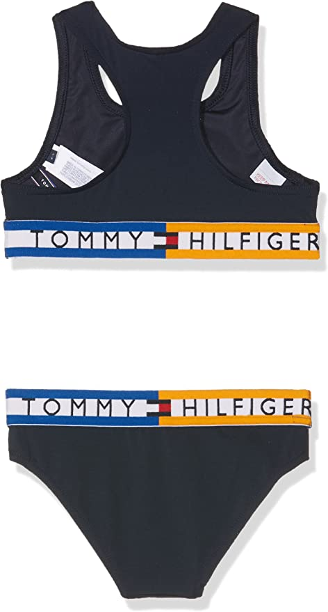 Tommy Hilfiger M/ädchen Bralette Bikini-Set