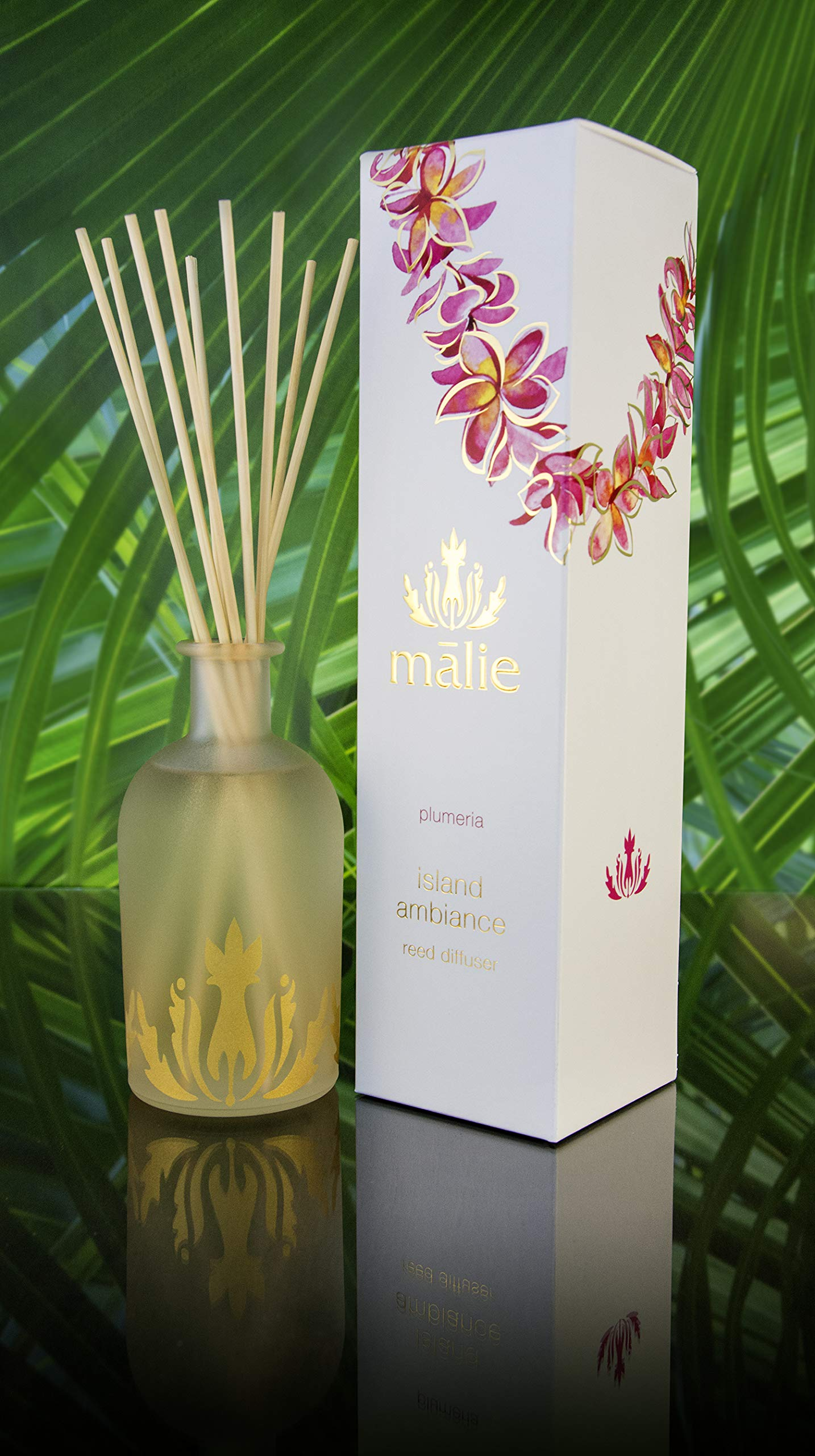 Malie Island Ambiance Reed Diffuser - Plumeria by Malie (Image #2)
