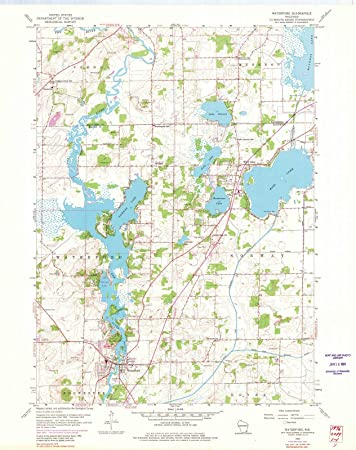 Amazon Com Wisconsin Maps 1959 Waterford Wi Usgs Historical