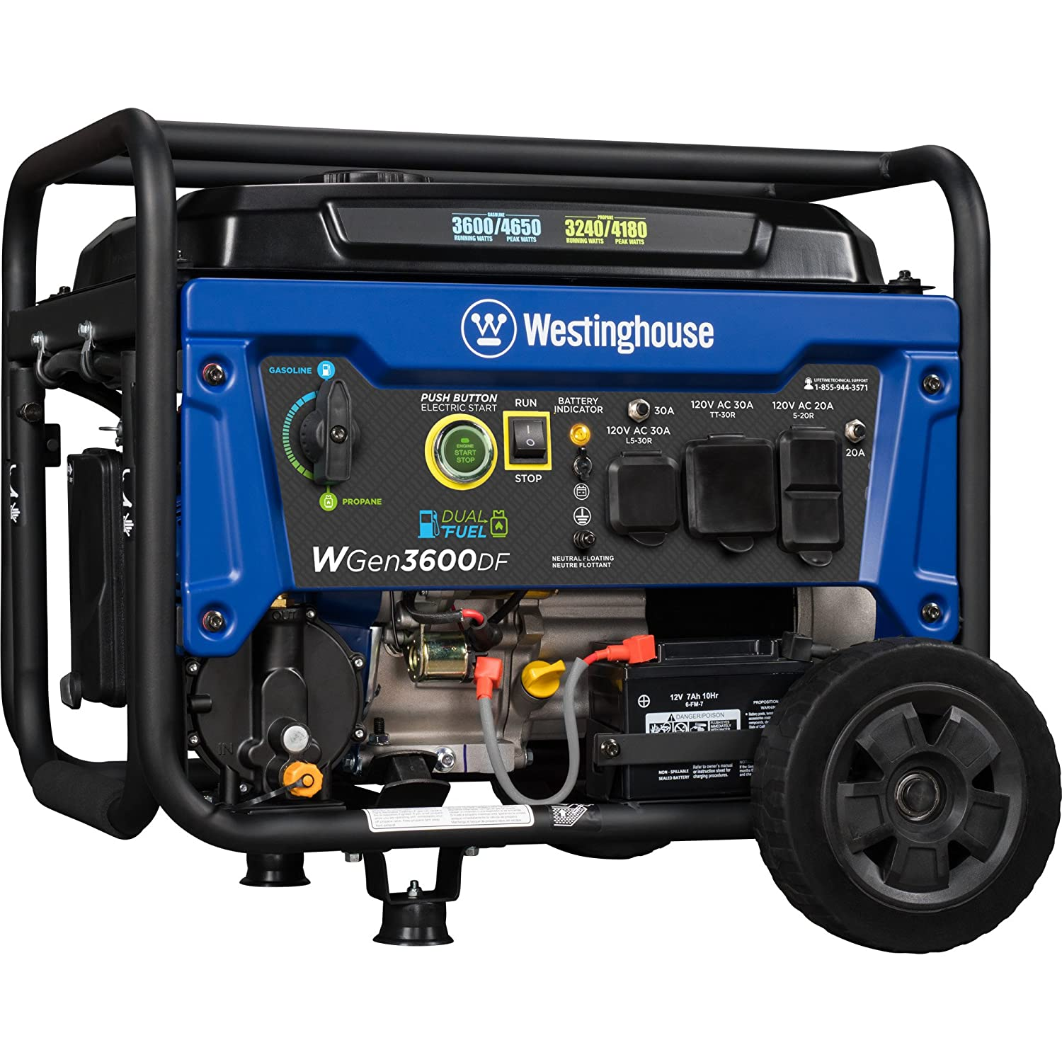Amazon Westinghouse WGen3600DF Dual Fuel Gas and Propane