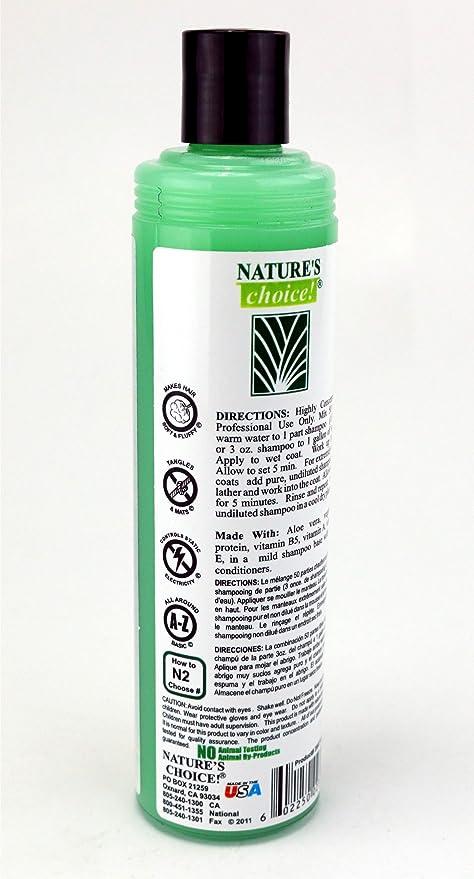 Amazon.com : Natures Choice Aloe Premium Shampoo 50:1 11.7 fl. oz. : Pet Supplies