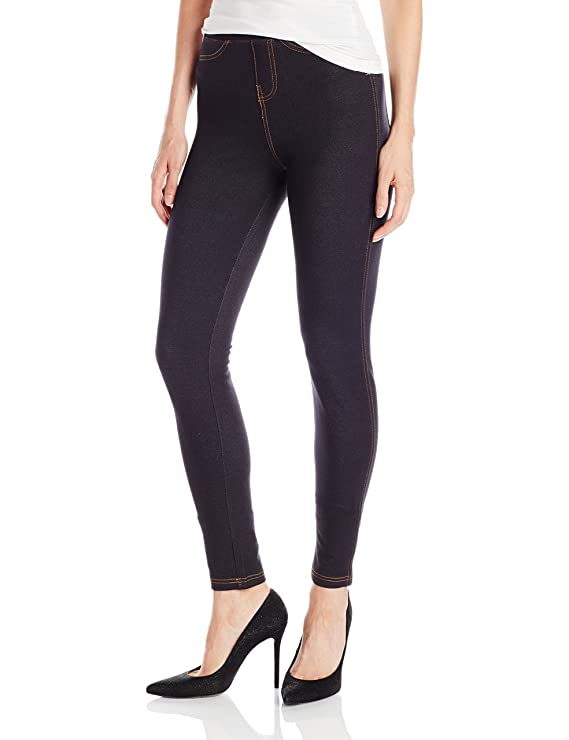 No Nonsense Women's Denim Legging, Black, Small