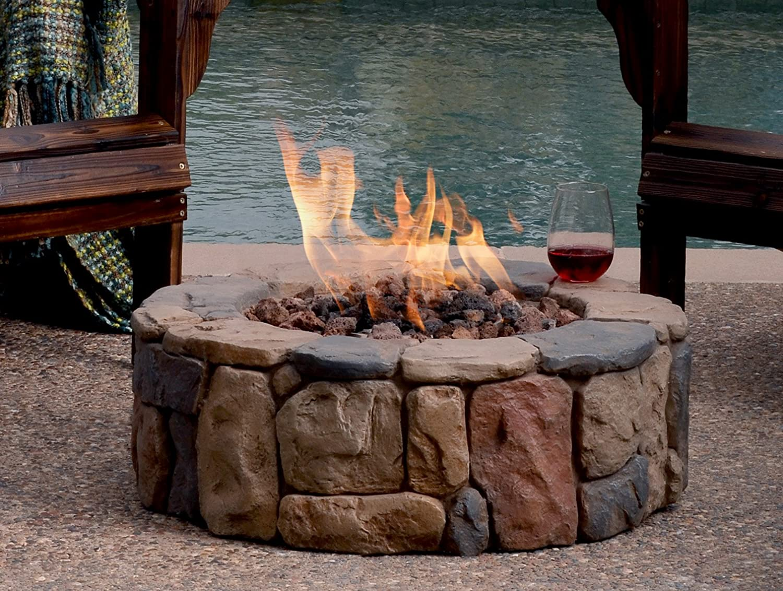 amazon com bond 66600 petra gas fire pit garden u0026 outdoor