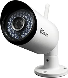 """Swann 1080P Expansion Bullet Camera Built-in Microphone & WiFi, Night Vision, White (SWNVW-485CAM-US), 8.5"""" X 8"""" X 4.2"""""""