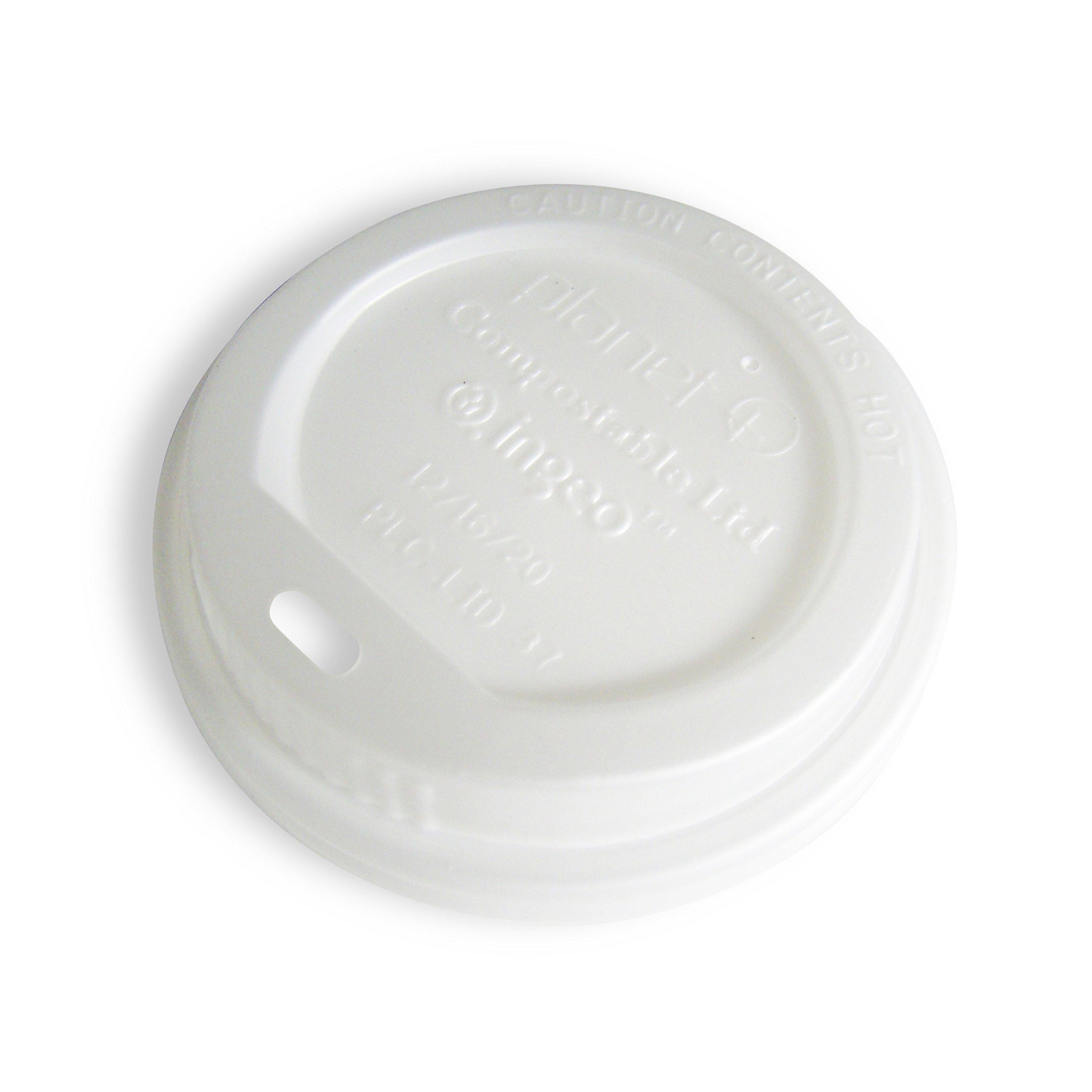 Planet + 100% Compostable PLA Hot Cup Lid, Fits 12/16/20 oz Single Wall Hot Cups and 12/16 oz Double Wall Hot Cups, 500-Count Case