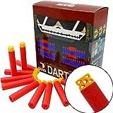 "EKIND 100 Pcs 7.2cm New Design TPR ""Waffles"" Soft Head Foam Darts for Nerf N-strike Elite AccuStrike Series Blasters Toy Gun(Red)"