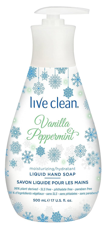 Live Clean Holiday Liquid Hand Soap, Cream, Vanilla Peppermint, 500ml Belvedere Intl 11LCN0896