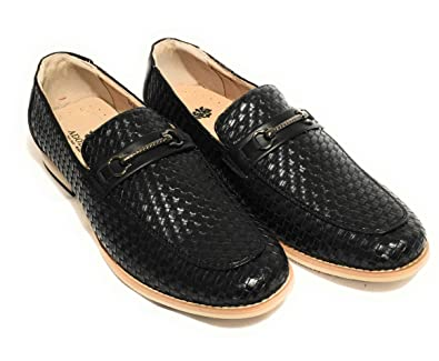 Justin Men's Slip-On Dress Shoes (Black 9.5 US)