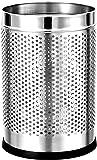 "Mochen® Stainless Steel Open Dustbin for Home, Office, Kitchen, Bathroom, 5 liters (7"" x 11""), Silver Chromic Finishing"