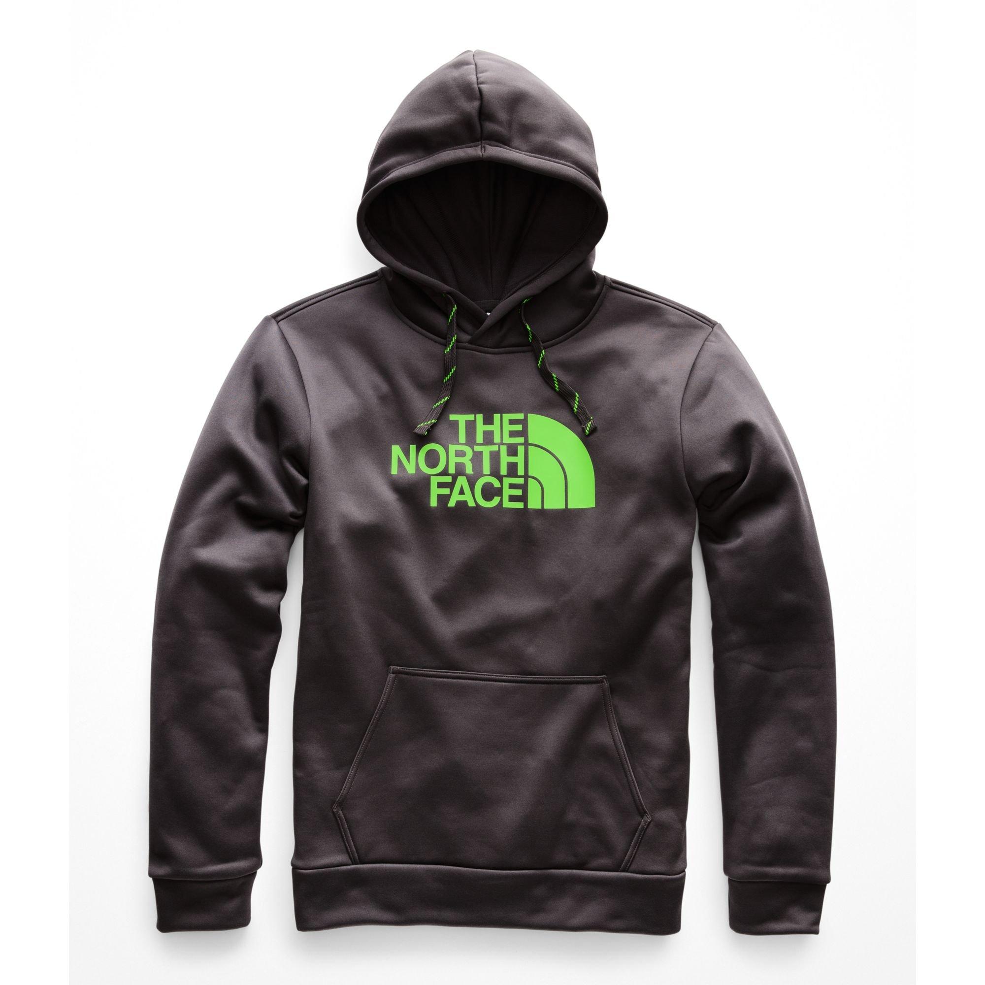 The North Face Men's Surgent Pullover Half Dome Hoodie - Asphalt Grey & Power Green - XL