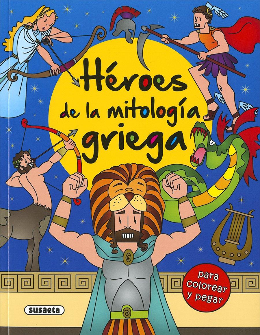 Héroes de la mitología griega para colorear y pegar: Amazon.es ...