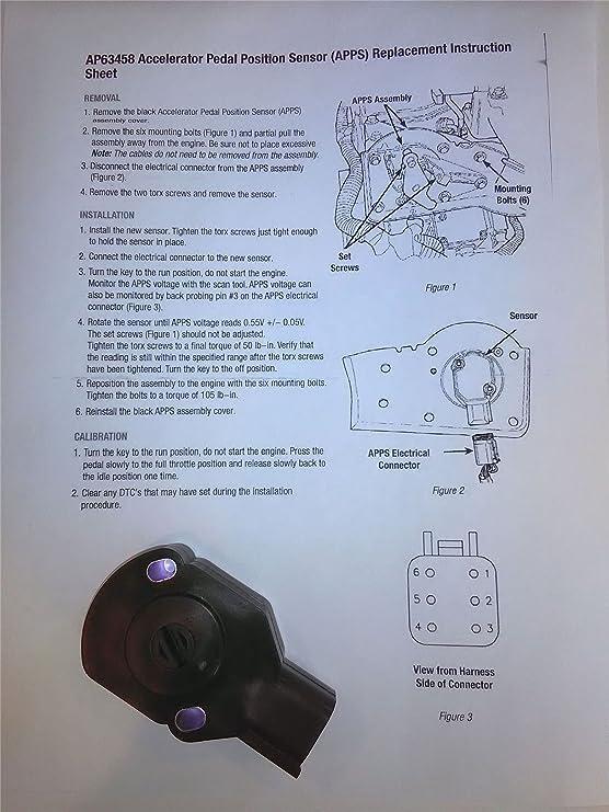 amazon com: apps tps throttle position sensor for 98-04 dodge ram cummins  bell crank 5 9l: automotive