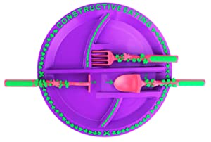 Constructive Eating Garden Fairy Utensil Set with Garden Plate for Toddlers, Infants, Babies and Kids - Flatware Toys are Made with FDA Approved Materials for Safe and Fun Eating