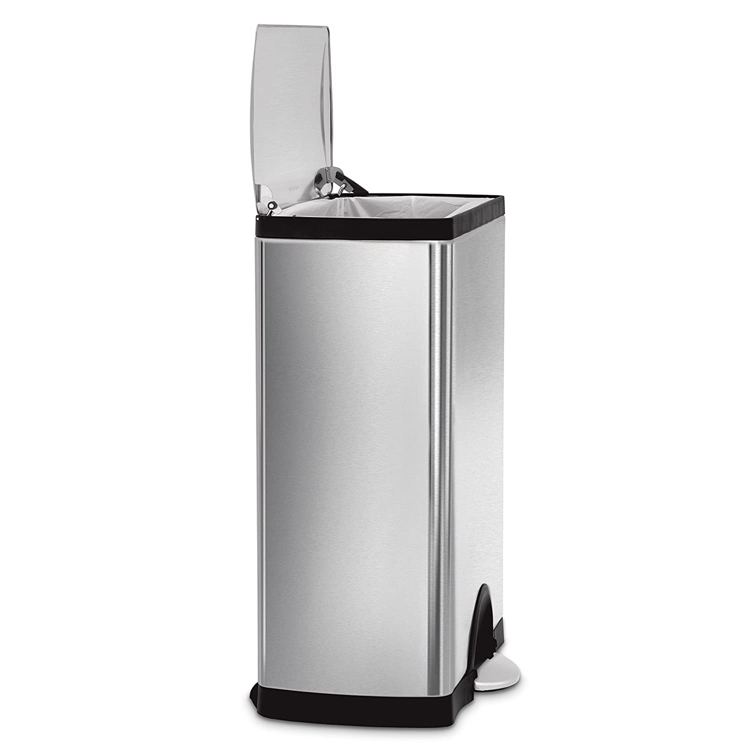 Amazon simplehuman Rectangular Step Trash Can Stainless Steel