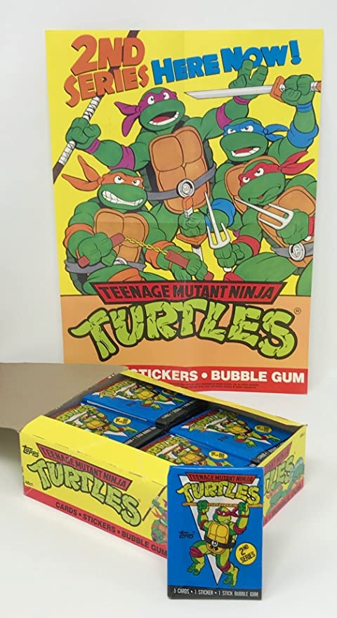 1990 Teenage Mutant Ninja Turtles 2nd Series Cards & Stickers PLUS POSTER - 48 Count Wax Packs (240 Total Cards + 48 Stickers)