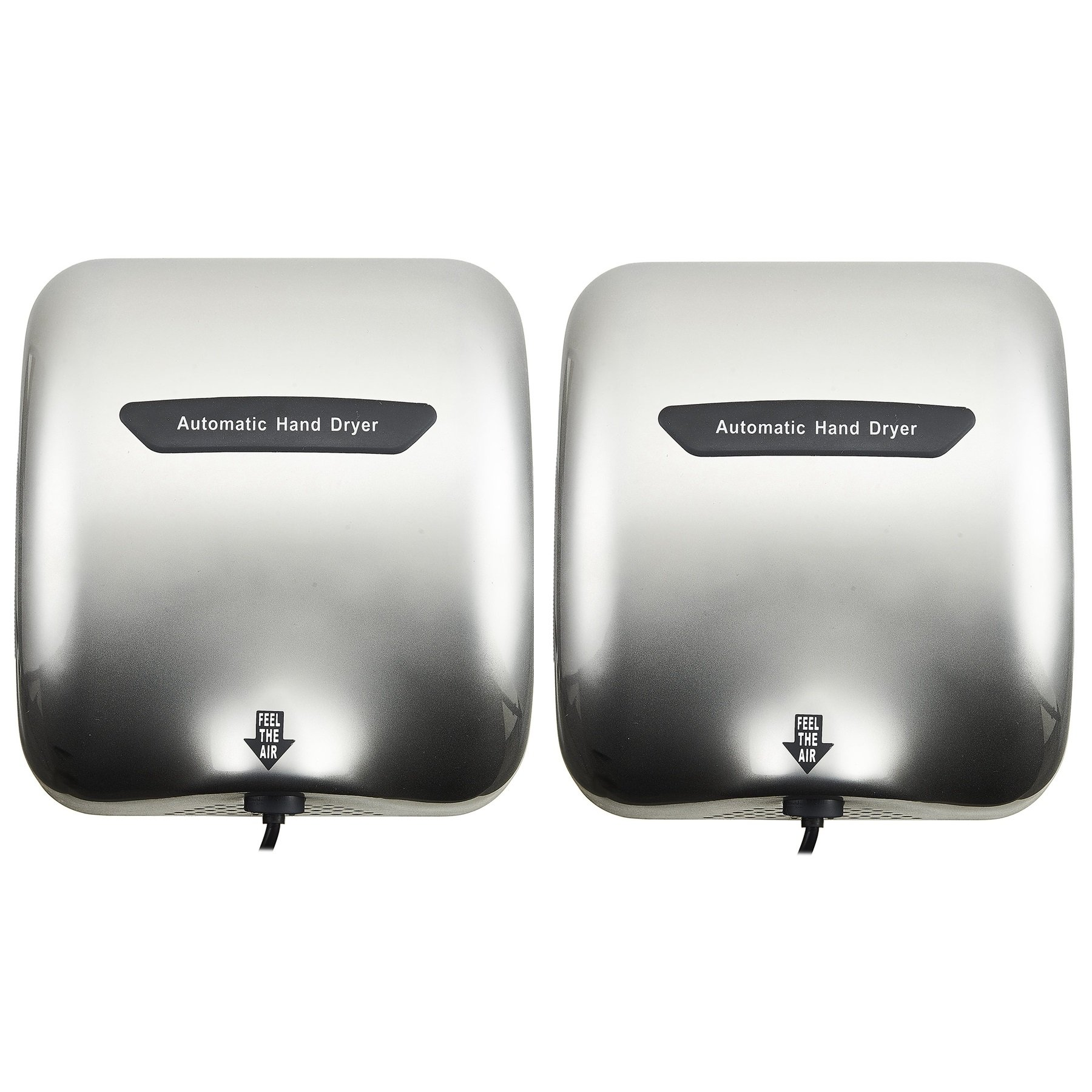 Tek Motion Commercial Premium Quality Heavy Duty Durable Hand Dryer Stainless Steel 1800w (2 pack) (silver white) by Tek Motion