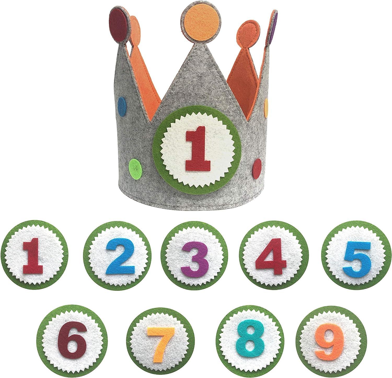 Maxi Nona Corona para cumpleaños o Fiestas Infantiles con números del 1 al 9 (Círculo)