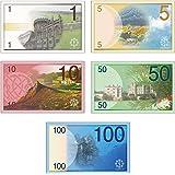 ゲーム用の紙幣 (Bセット) 5種 112枚