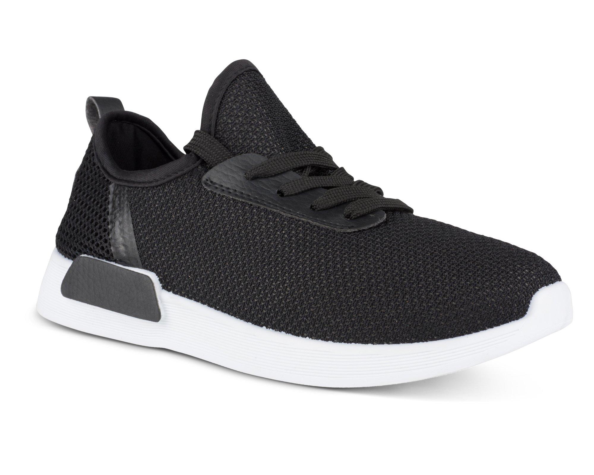 Twisted Womens Dimitria Lightweight Mesh Athletic Fashion Sneaker - DIMITRIA01 Black/White, Size 8.5
