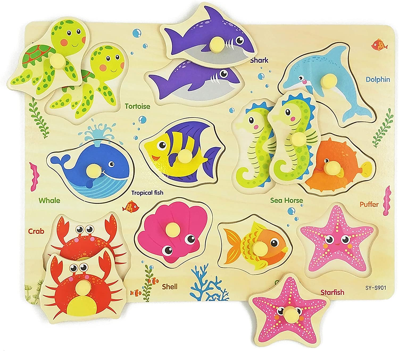 Ocean Animals Wooden Tray Puzzle