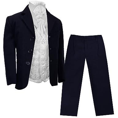 Größe 134 Jungen - Besondere Anlässe Kleidung & Accessoires Weise Dunkelblaue Anzughose