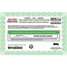 VersaCheck Annual 500 Print Validation Code [Online Code]