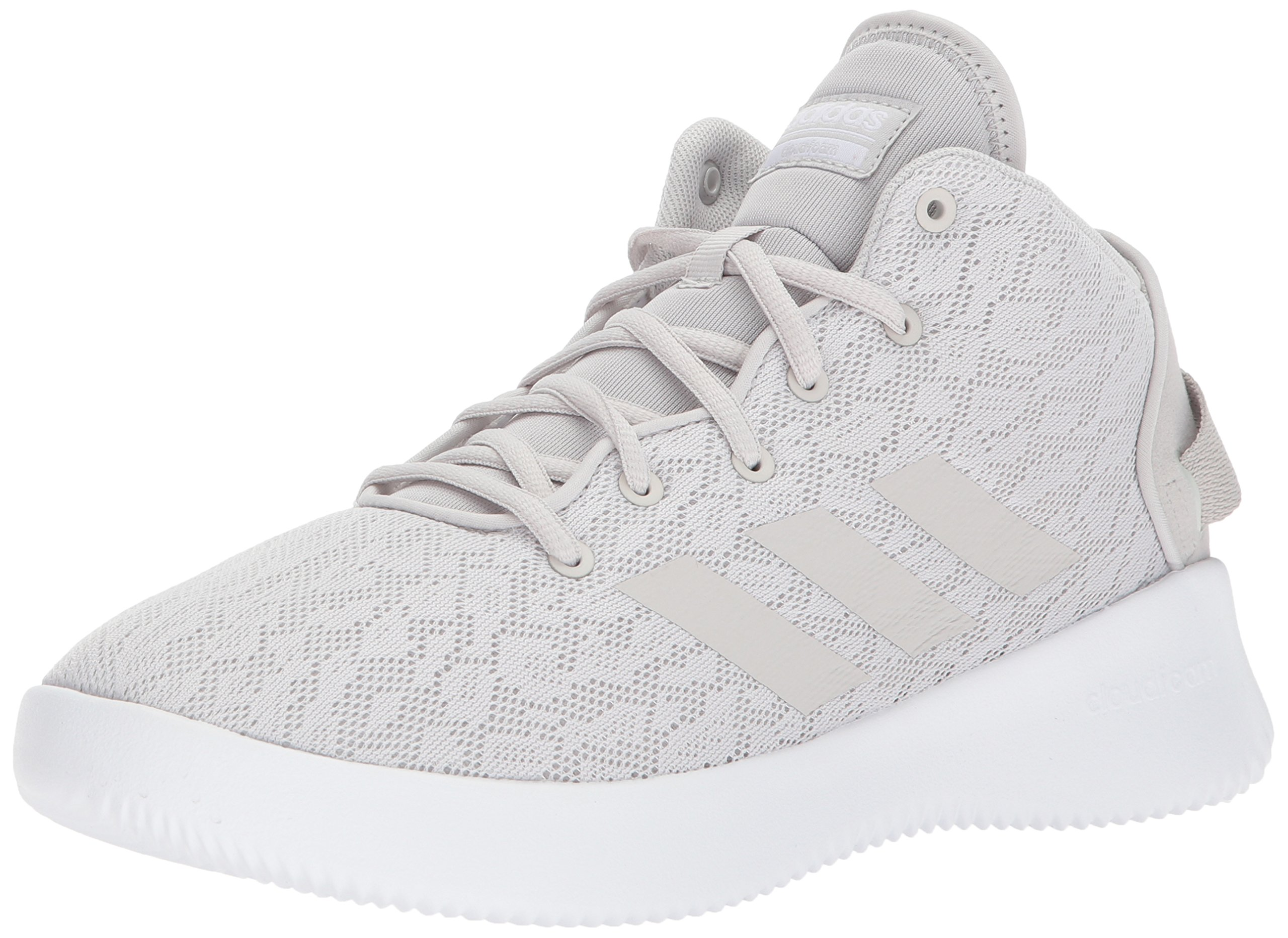 adidas Women's CF Refresh Mid W Basketball Shoe, Grey One/Grey One/White, 11 Medium US