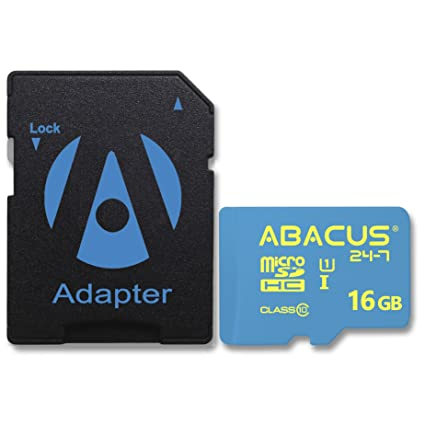 Abacus24-7 16GB micro SD Memory Card for Samsung Galaxy A3, A5, On5, Ace 4,  J3 V, J5, Core II, Express 3, Grand Neo Plus, Grand Prime, J3 V, Legend,
