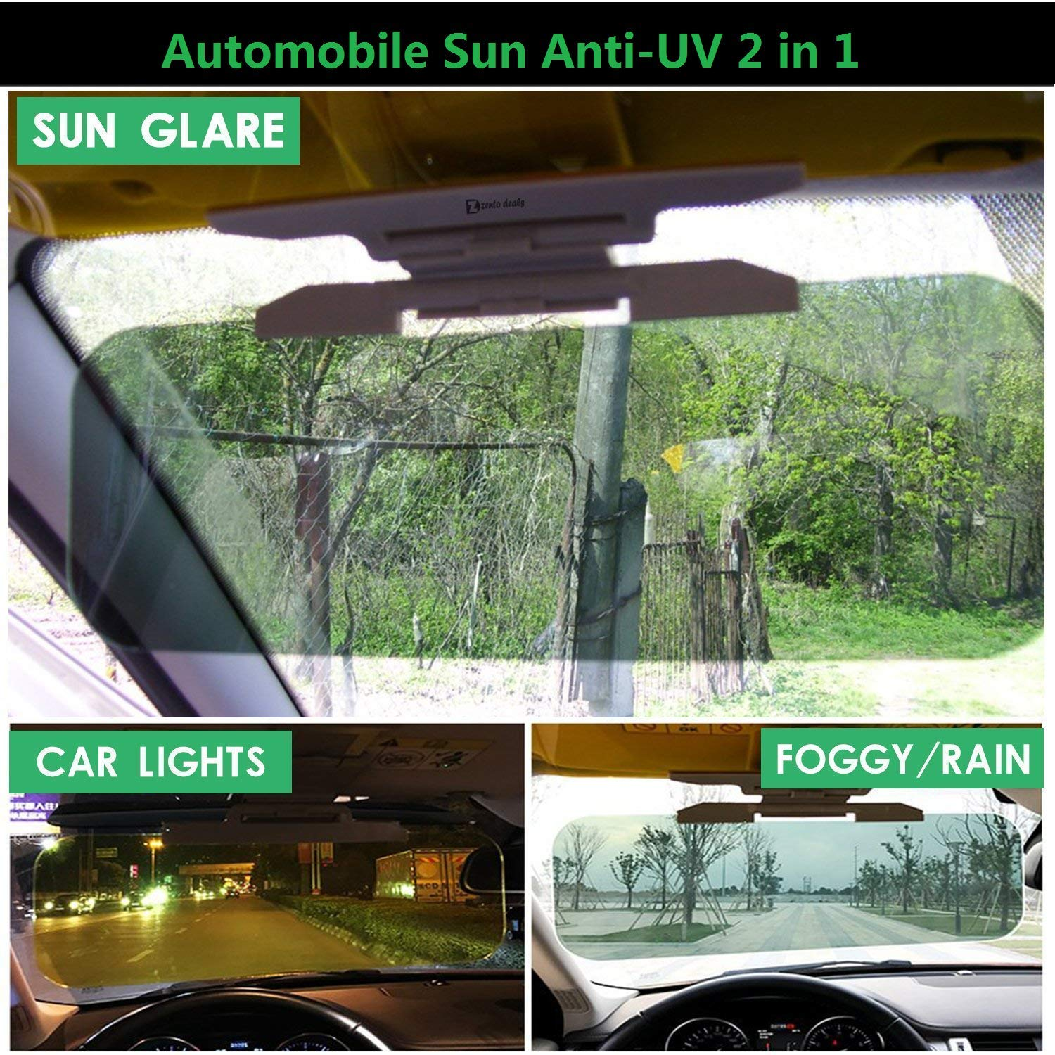 Tuningpros SS-092 Custom Fit Car Windshield Sun Shade Protector Sunshade Visor Silver /& Grey 1-pc Set Compatible With 2009-2018 Dodge Journey