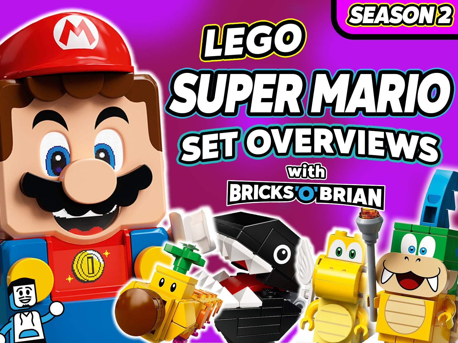 Clip: LEGO Super Mario Set Overviews with Bricks 'O' Brian! on Amazon Prime Video UK