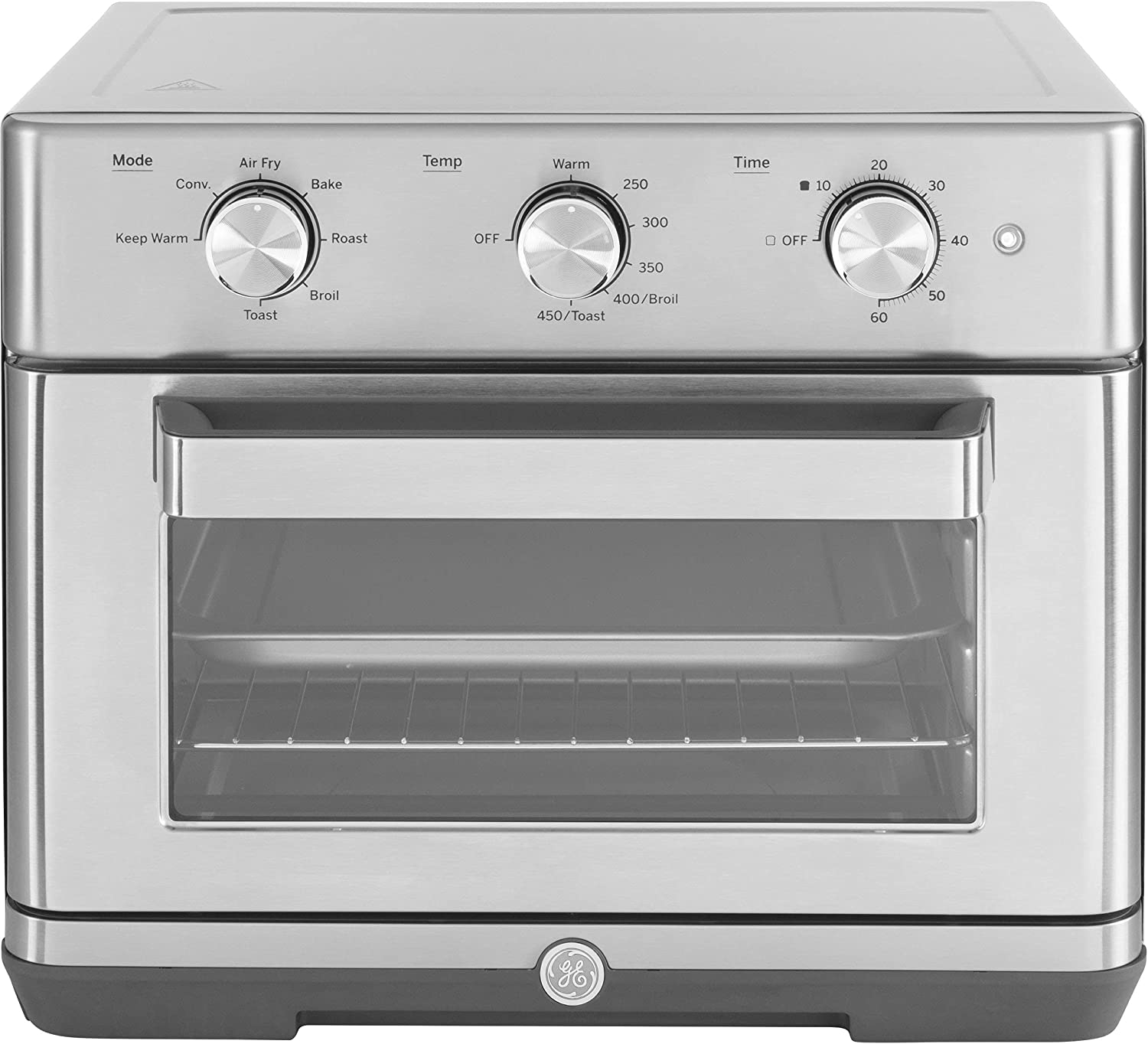 GE 7-in-1 Toaster Mechanical Air Fry Oven, Large Capacity, Stainless Steel