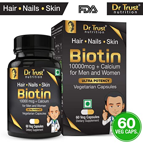 Dr Trust (USA) Biotin 10000 mcg with Added Calcium for Hair Growth Improve  Skin