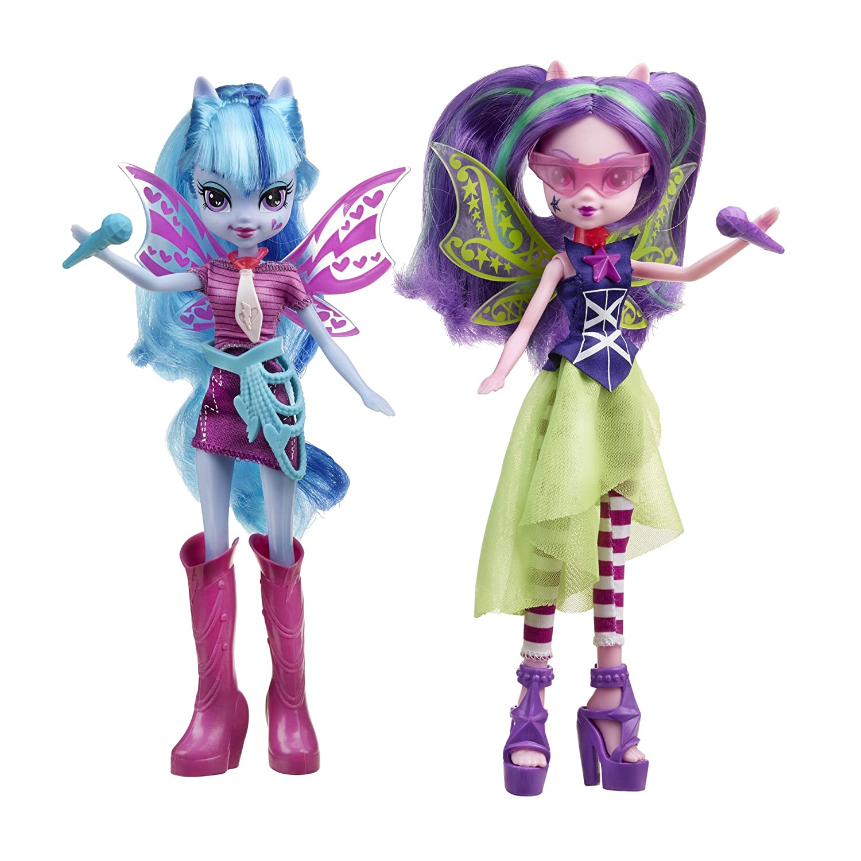 Amazon.com: My Little Pony Equestria Girls Aria Blaze and Sonata Dusk Doll,  2-Pack: Toys \u0026 Games