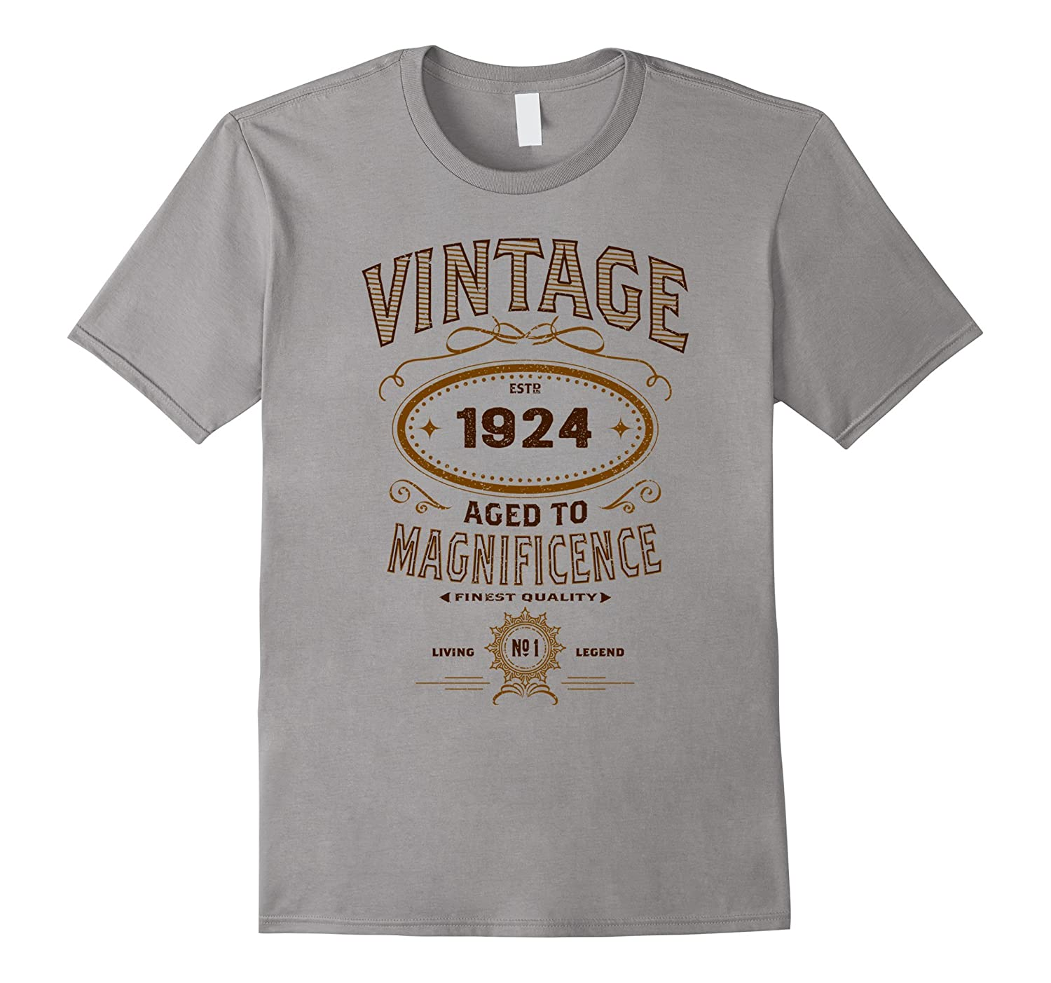 Vintage Aged To Magnificence 1924 93rd Birthday Gift T-shirt-FL