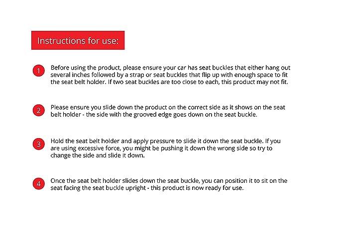 Amazon.com: Soporte de hebilla para cinturón de seguridad de ...
