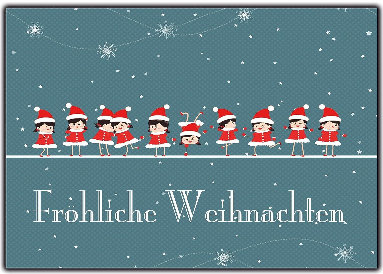 Weihnachtskarten Set Günstig.Weihnachtskarten Set Grußkarten Weihnachten Weihnachtspostkartenset Lustig Rustkal 100 Stück Weihnachts Postkarten Witzig Comic Collection Din A 6