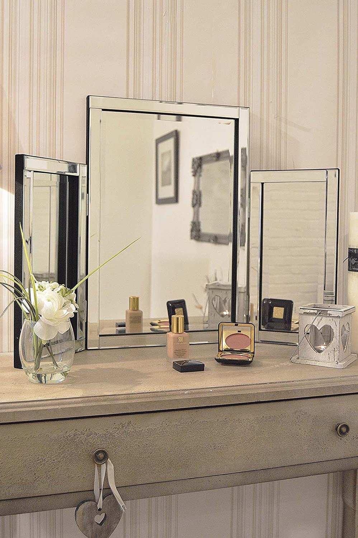 Modern Design Beautiful Glass Venetian Dressing Table Mirror 1ft10 x 2ft7 etrading1