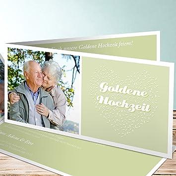 Einladungskarten Goldene Hochzeit Online Gestalten Reis