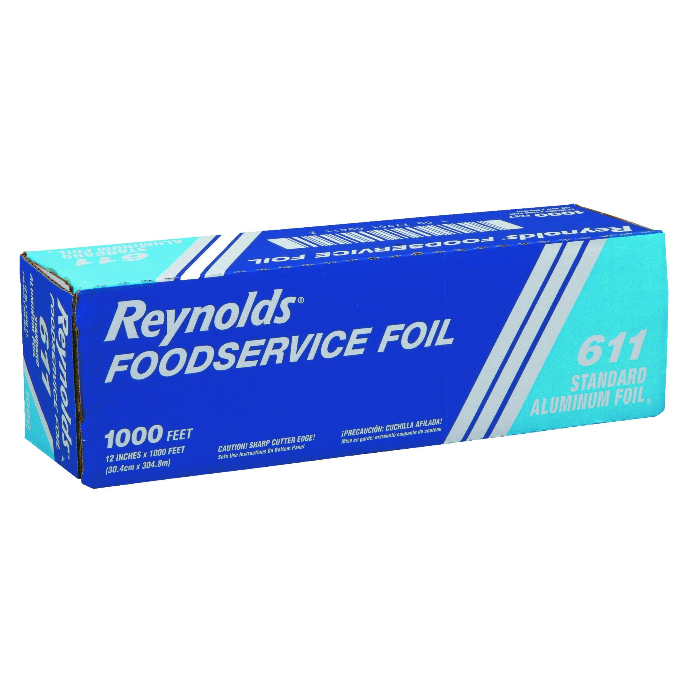 "Reynolds Wrap 611 Standard Aluminum Foil Roll, 12"" x 1000 ft, Silver"