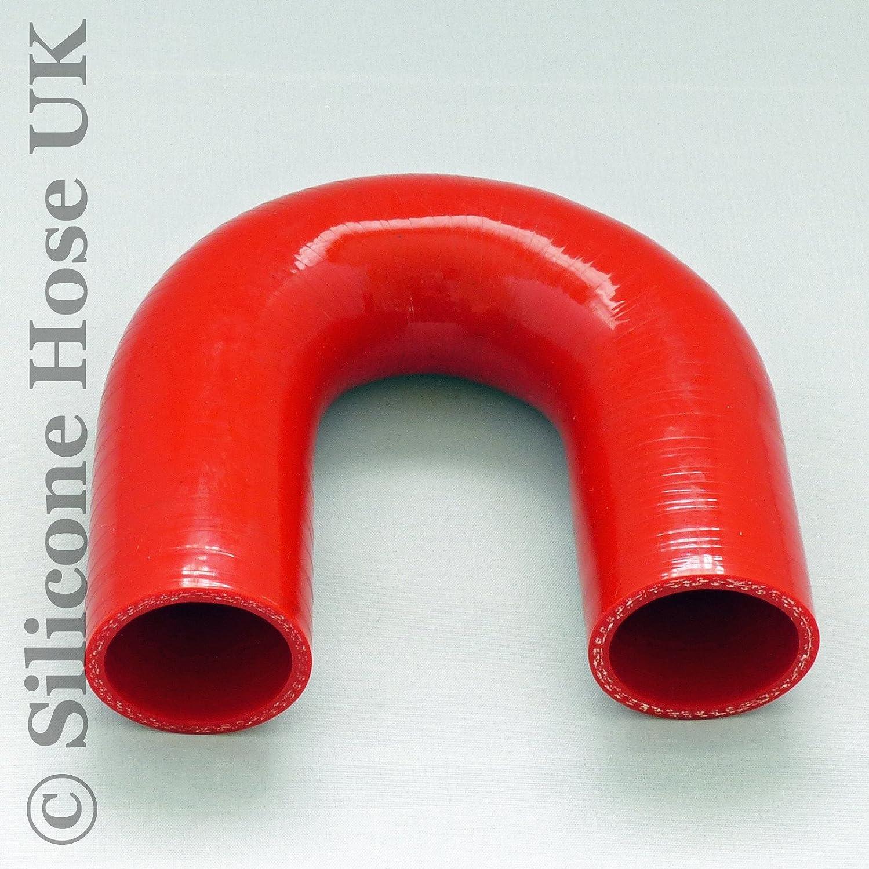 180 Grad Silikonbogen 180 Id 65mm Kühlerschlauch Bogen Llk Silikonschlauch Rot Auto