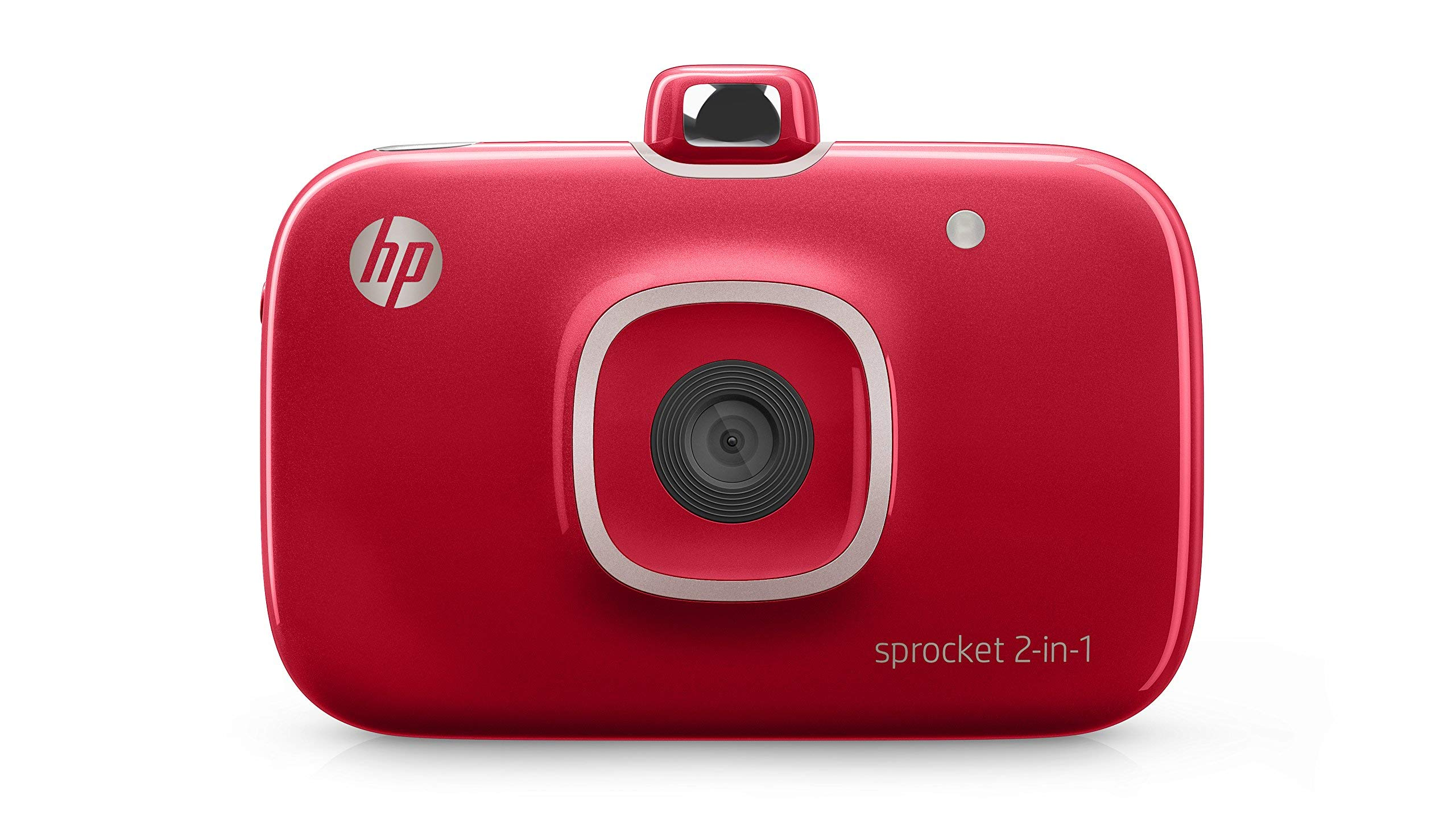 HP 2FB98A#B1H Sprocket 2-in-1 Portable Photo Printer and Instant Camera, print social media photos on 2x3 inch sticky-backed paper - Red (2FB98A) (2FB96A#742) (Renewed) by HP