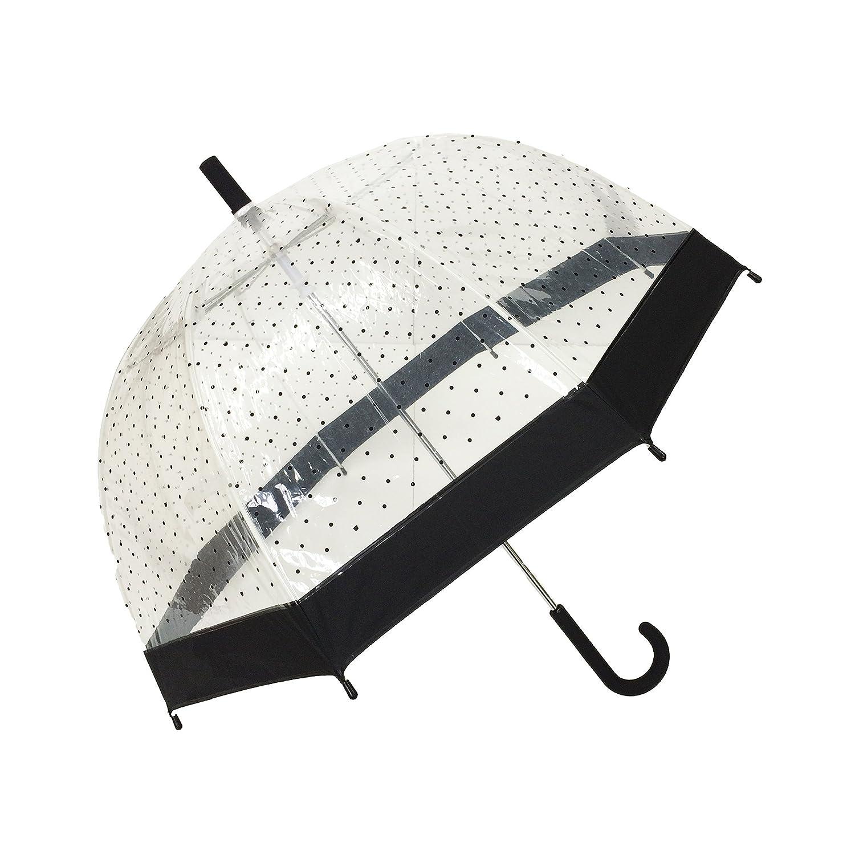 SMATI Paraguas Largo Transparente Forma de Campana automático-Estampado(Mujer) DISSENY PLUS S.L.