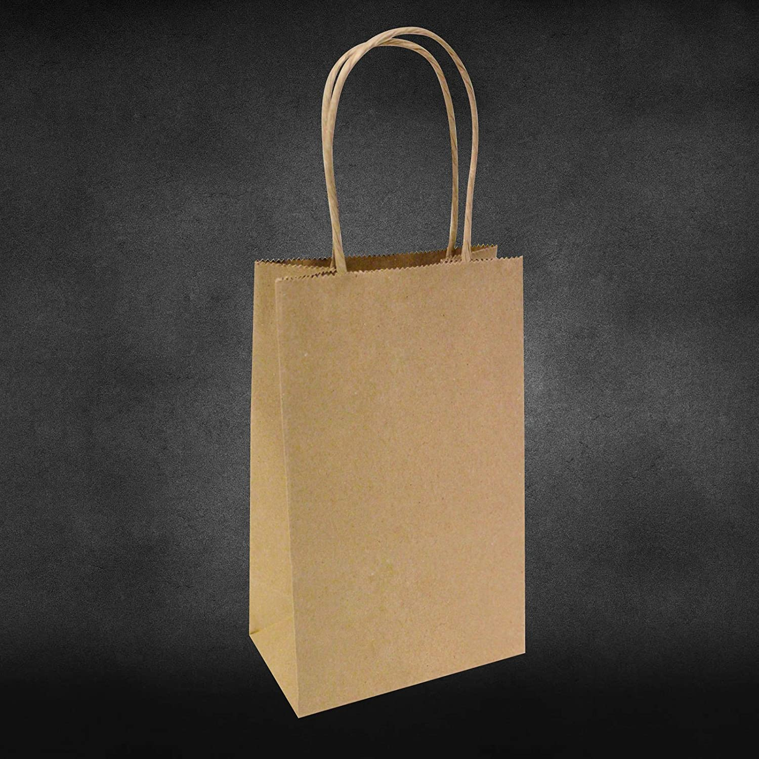 5.25x3.25x8 - 100 Pcs - Brown Kraft Paper Bags, Shopping, Mechandise, Party, Gift Bags by BagSource Bag Source PK1N100