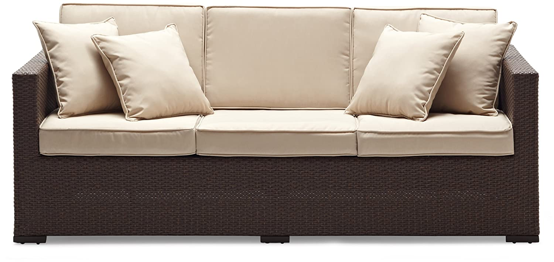 Gentil Amazon.com: Strathwood Griffen All Weather Wicker 3 Seater Sofa, Dark  Brown: Garden U0026 Outdoor
